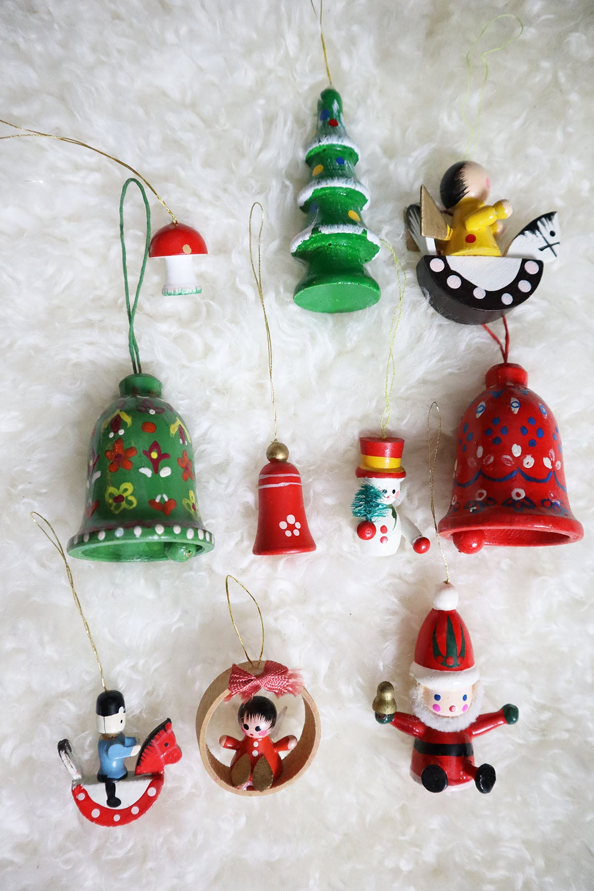 Vintage Set of Nostalgic Christmas Tree Decoration