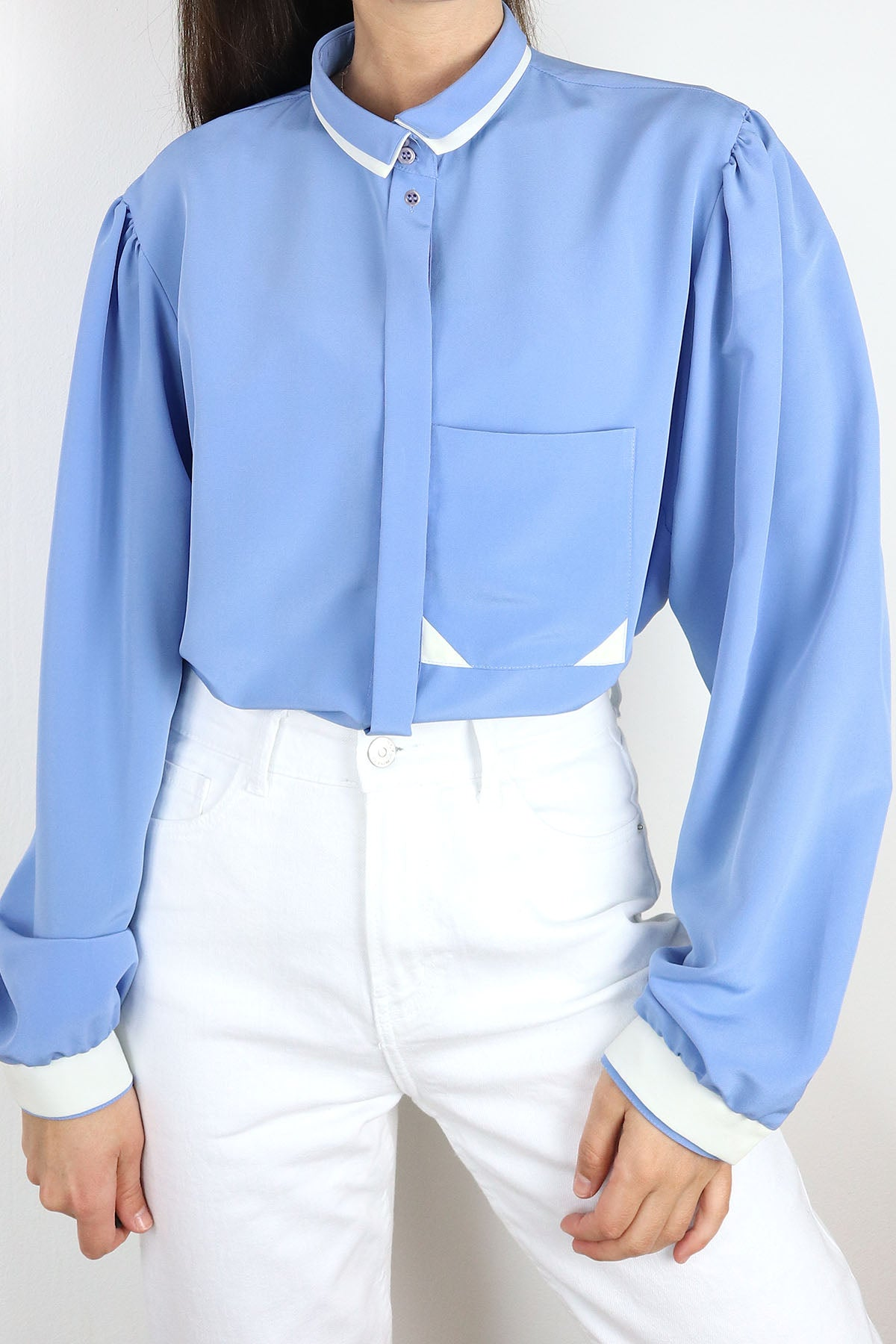 Vintage Blouse With Contrast Details