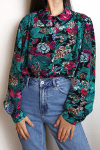 Vintage Blouse With Flower Print