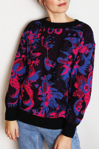 Colorful Cozy Vintage Pullover