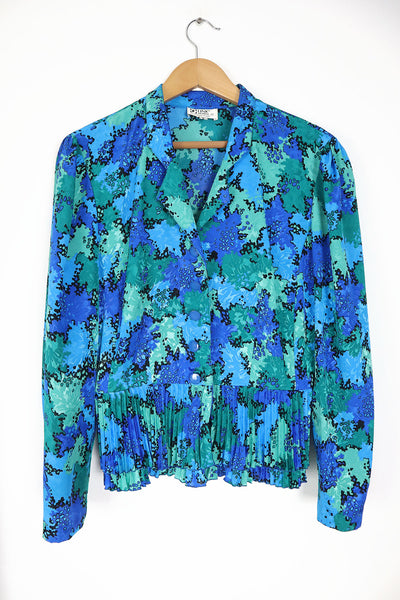 Colorful Camouflage Vintage Blouse