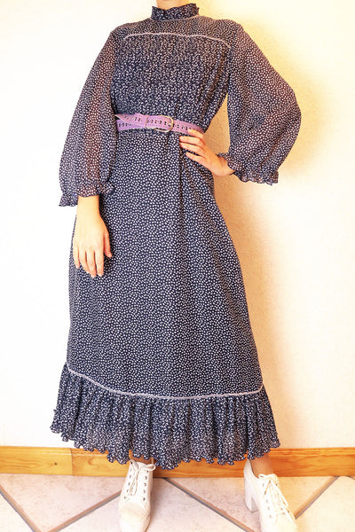 Vintage Dress With Ruffles