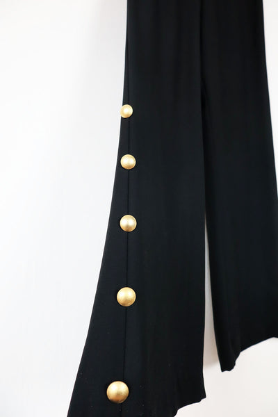 Vintage Marlene Trouser With Gold Buttons
