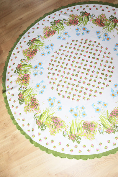 70´s Vintage Round Tablecloth