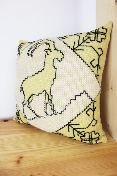 Capricorn Vintage Pillow Embroidery