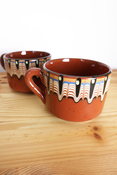 70s Vintage Set Of Two Cups