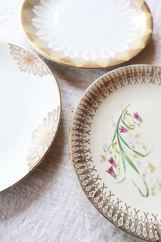Set Romantic Vintage Plates