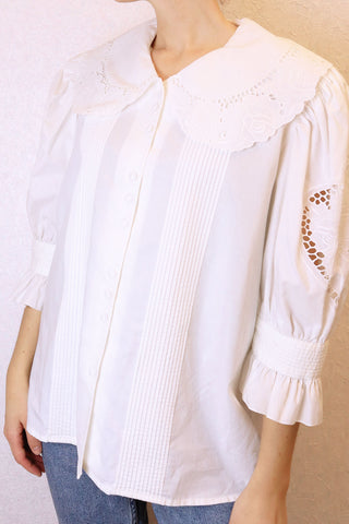 Vintage Blouse With Big Collar
