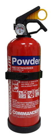 Budget 1kg Dry Powder Fire Extinguisher - ideal for domestic & home use