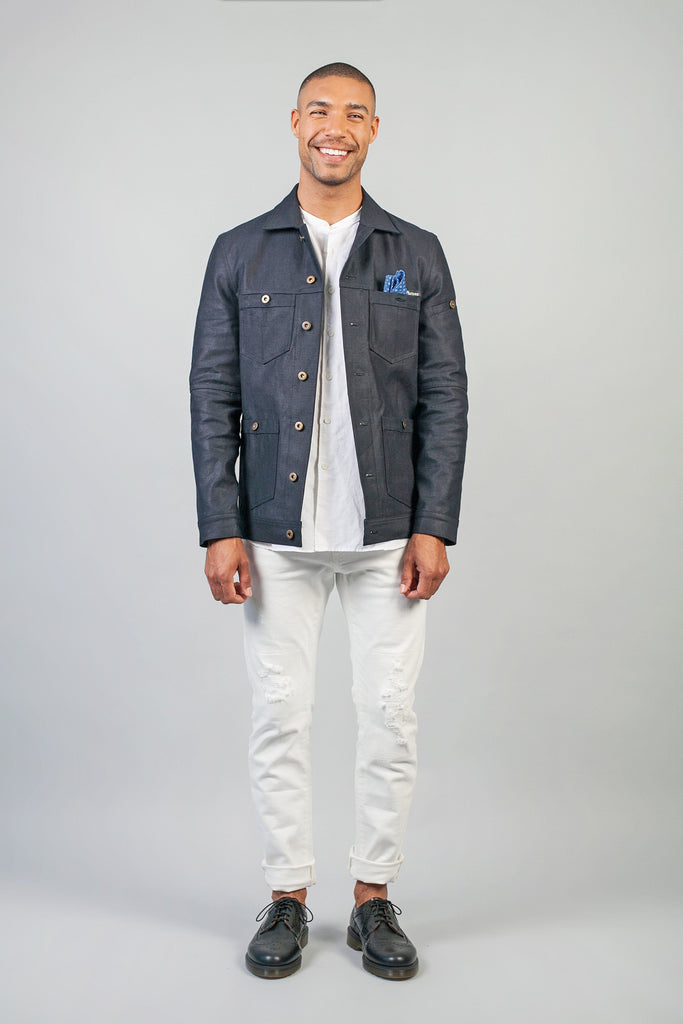 Odd Natives, The 'Carpenter' denim jacket is made from 14oz Candiani denim imported from Italy, with rustic button hardware.  Made in New York City.  Complementary Shipping.