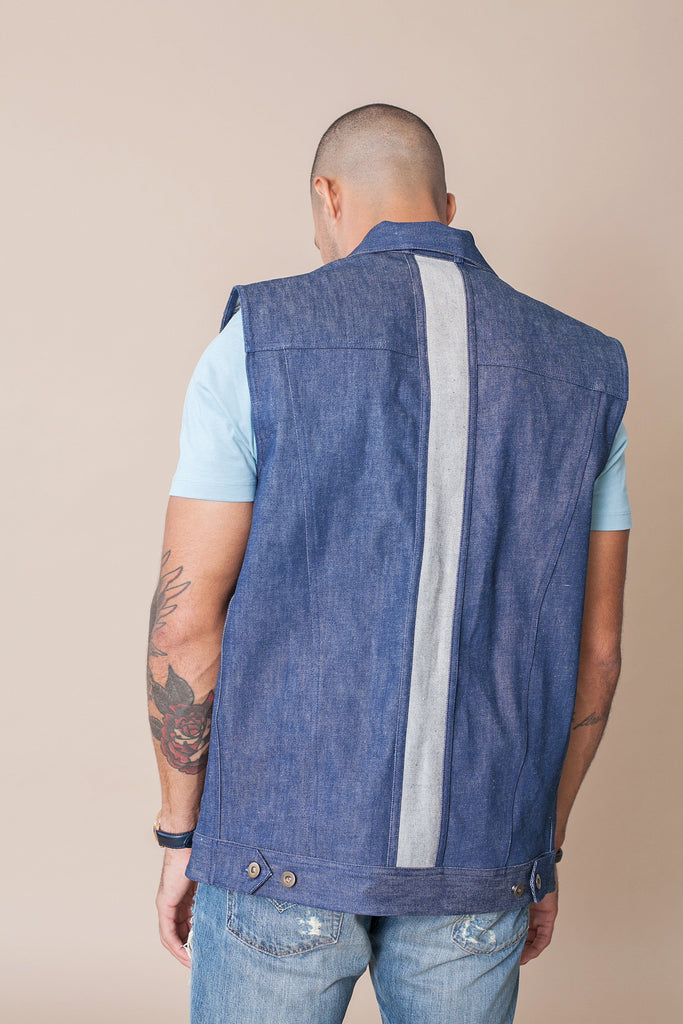 Odd Natives, The 'Nomad' denim vest is constructed from natural indigo denim from USA and made in New York City.  Complimentary Shipping Included.
