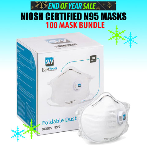 N95 NIOSH Approved Face Mask - 100 Mask Bundle (PTN Members Only)