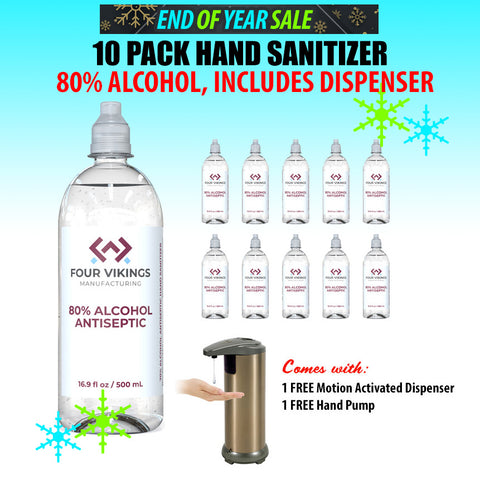 10 PACK of 500ml Hand Sanitizer Plus Dispenser Bundle (PTN Members Only)