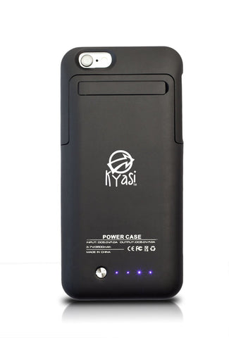 Kyasi Power To Go 3500 mAh battery case for 100% More Battery Life iPhone 6 6S Jet Black