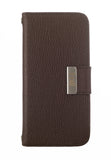 Kyasi Signature Phone Wallet Case for Samsung Galaxy S5 Saddleback Brown