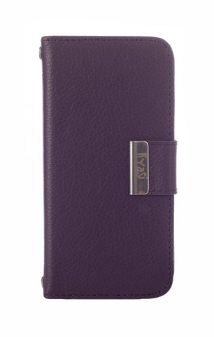 Kyasi Signature Phone Wallet Case for Samsung Galaxy S5 Deep Purple