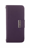 Kyasi Signature Phone Wallet Case for Apple iPhone 5 or iPhone 5S Deep Purple