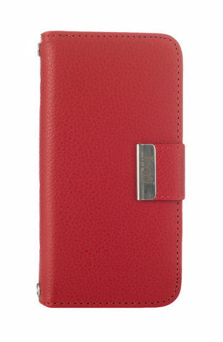 Kyasi Signature Phone Wallet Case Apple iPhone 5 or iPhone 5S Red Hot