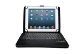 Kyasi Wireless Executive Bluetooth Keyboard Case Folio Universal 9 to 10 inch Tablets - Removeable Keyboard Black