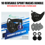 10 Reusable Sport Masks with Breathe Vents, just $99