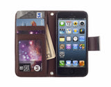 Kyasi Signature Phone Wallet Case for Apple iPhone 5 or iPhone 5S Saddleback Brown