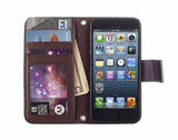 Kyasi Signature Phone Wallet Case for Apple iPhone 6 6S Deep Purple