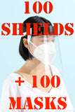 Contractor PACK 100 of Surgisyn Shields + 100 KN95 Masks