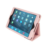 Pink iPad Mini Case - APLJUS Collection - PU Leather Protective Cover with Hand Strap and Magnetic(on/off) Closure - Hot Pink - Premium Grade - Clearance