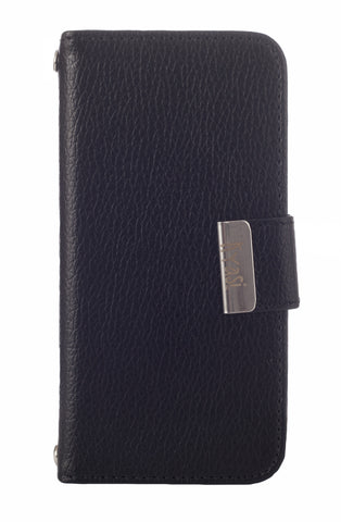 Kyasi Signature Phone Wallet Case for Apple iPhone 6 6S Plus Obsidian Black