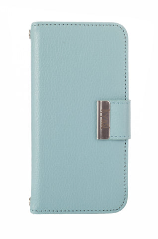 Kyasi Signature Phone Wallet Case Apple iPhone 5 or iPhone 5S Catalina Blue
