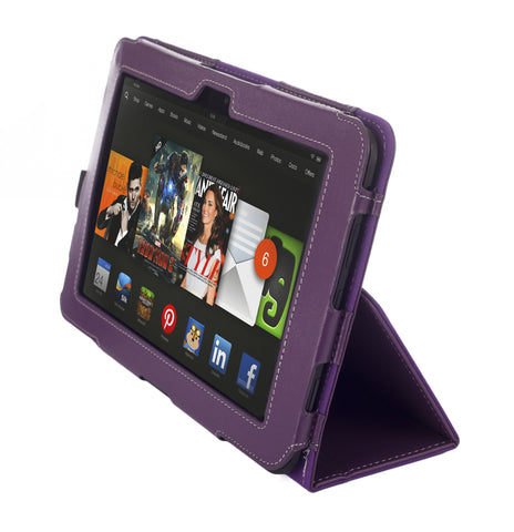 Kyasi Seattle Classic Desginer Folio Case Amazon Kindle HDX 8.9 Deep Purple