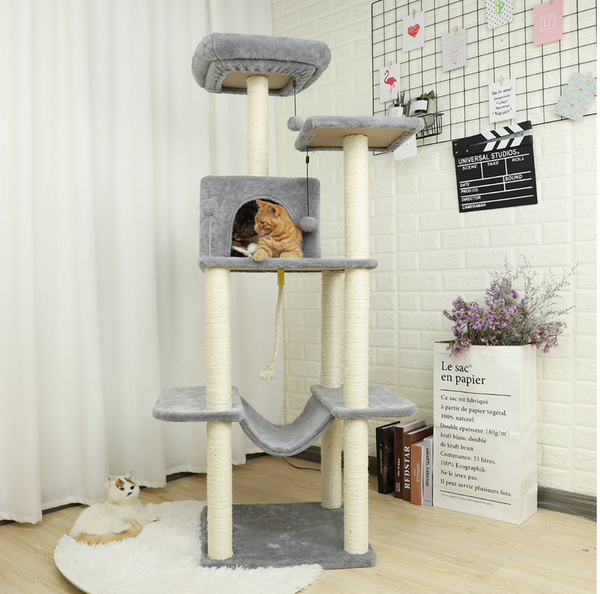 Cat Tree Tower Sisal Scratching Post Kitten