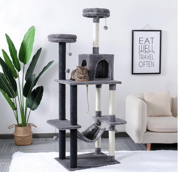 Cat Tree Tower Pets Play Tree Scratching Tree Climbing Jumping Toy