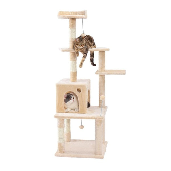 Cat Tree Pets Sleeping Condo Scratching Post Climbing Tower