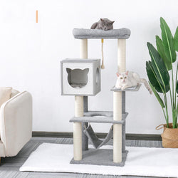 Modern Cat Scratching Wood Climbing Tree