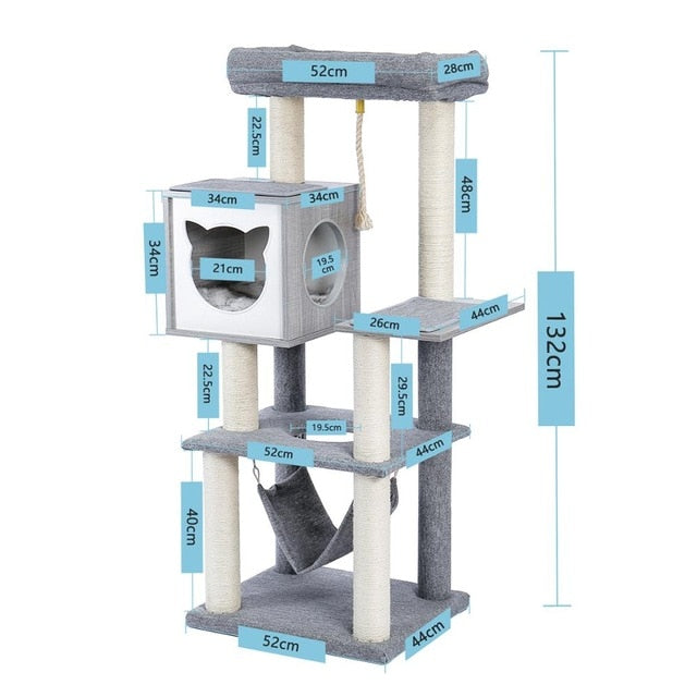Modern Cat Scratching Wood Cats Climbing Tree