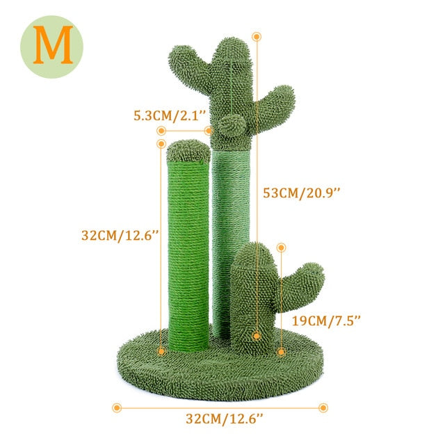 Cute Cactus Pet Cat Tree Scratcher Posts for Cats Kitten Climbing Toy