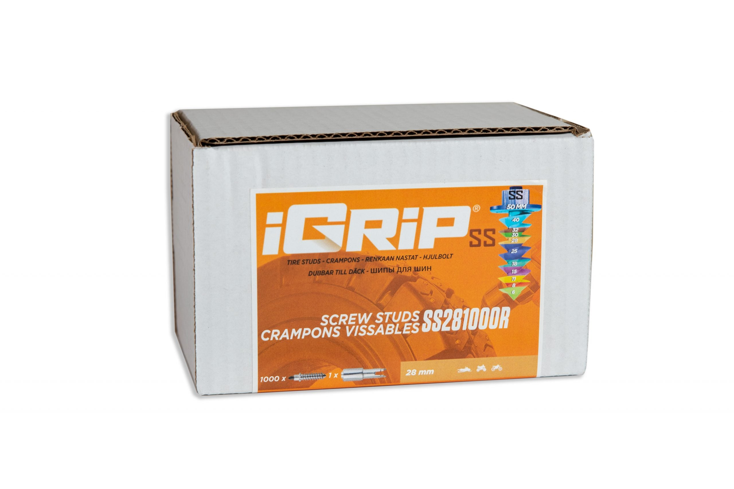 SS-28R iGrip Shouldered Racing Tire Studs