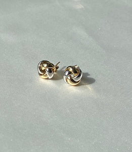 Two Tone Knot Stud