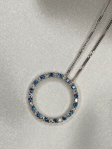 Blue Diamond Eternity Pendant