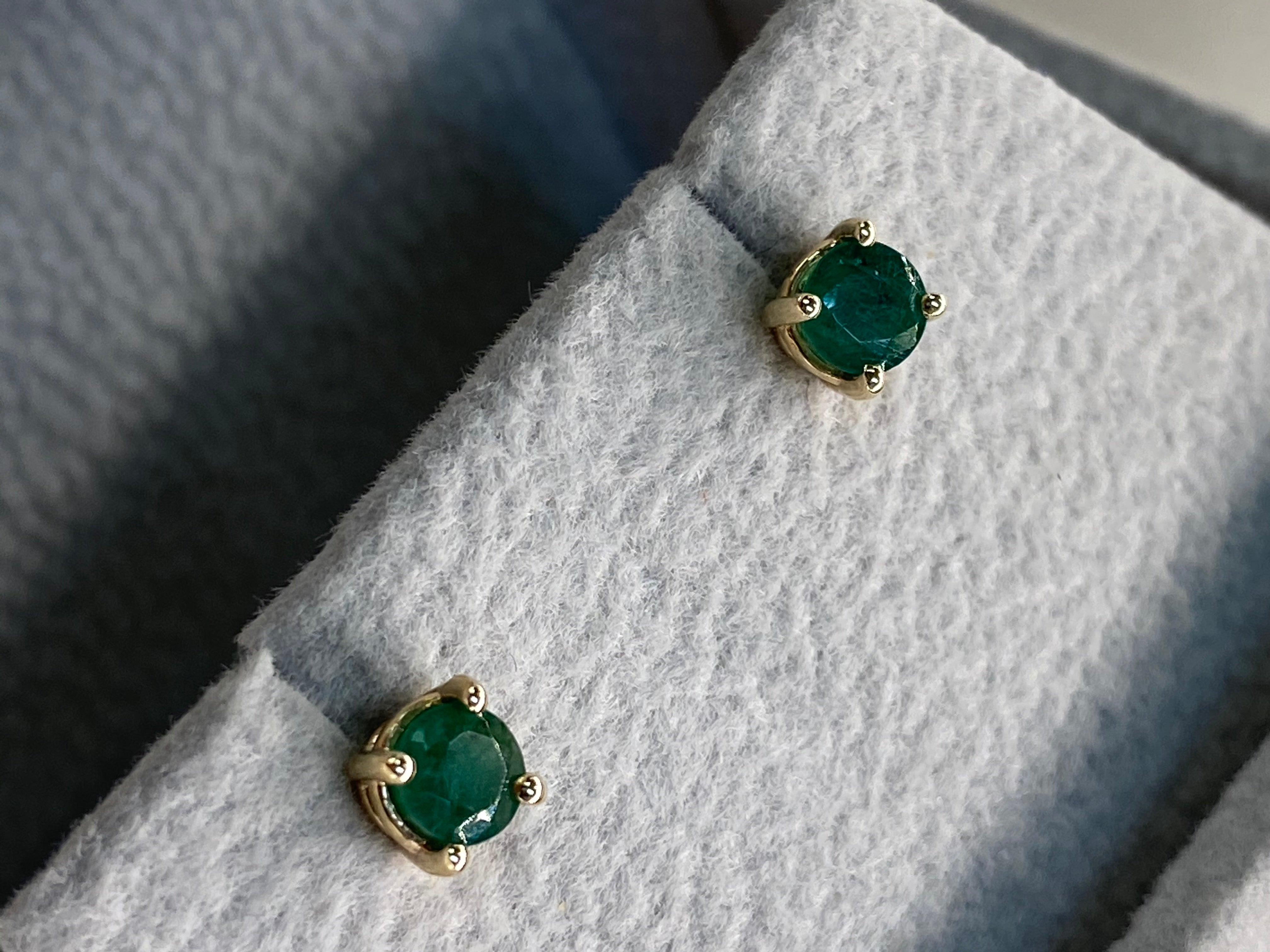 May Emerald Studs