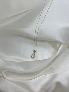 Opal Pendant with Accent Diamonds