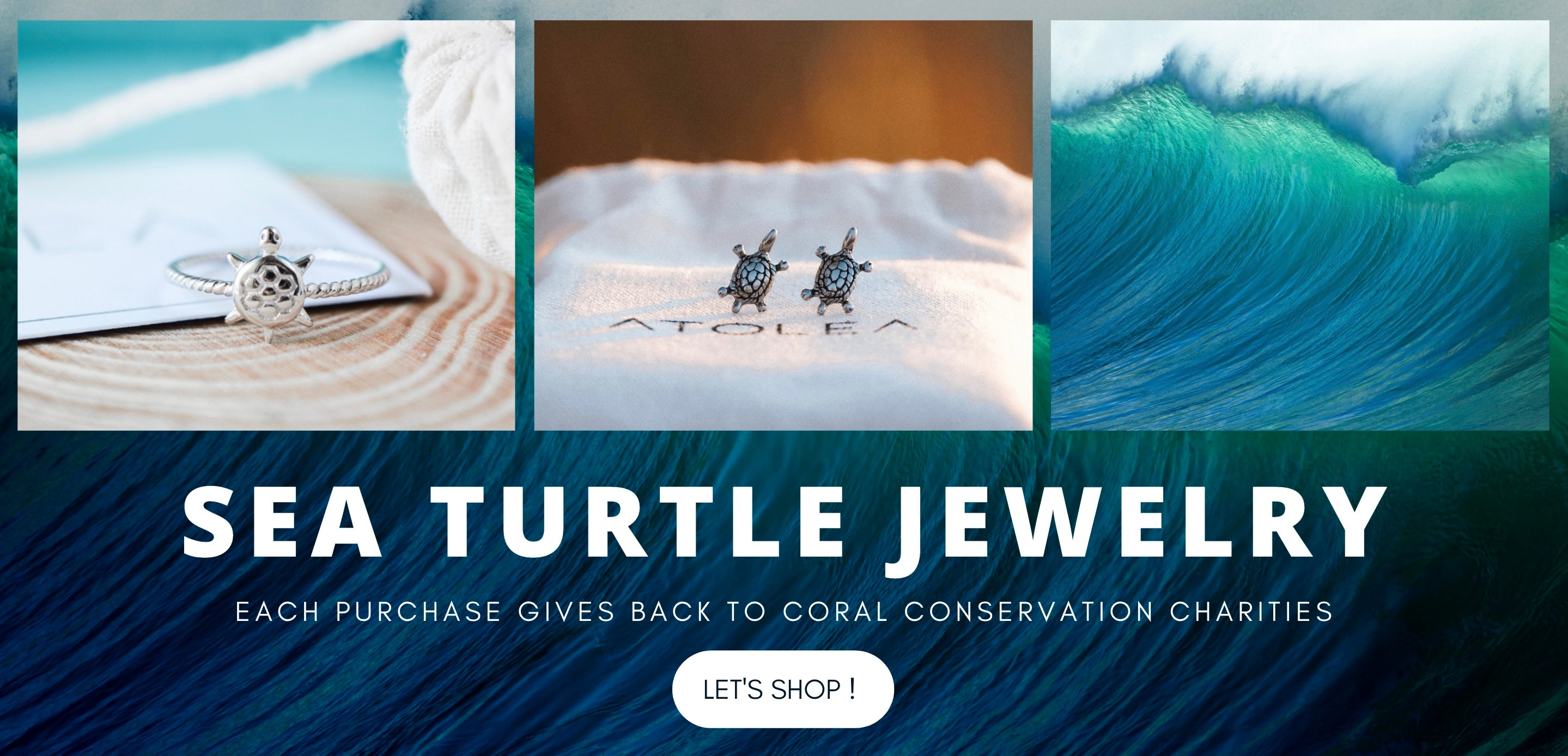 Save the sea turtles jewelry