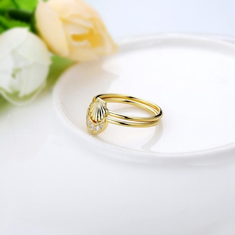 Gold scallop ring