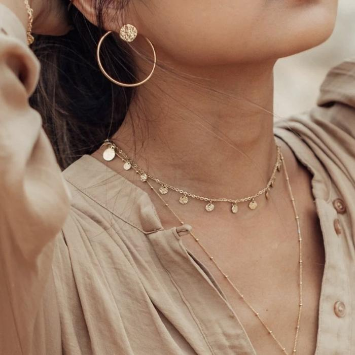 Beach necklace for summer outfit