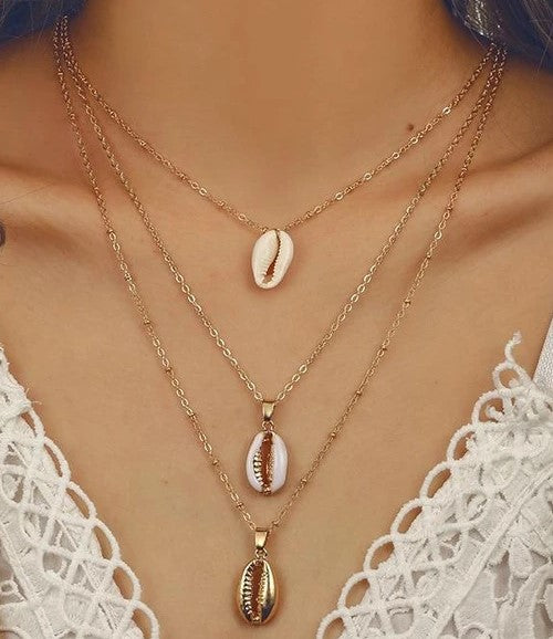 Moorea Layered Seashell Necklace