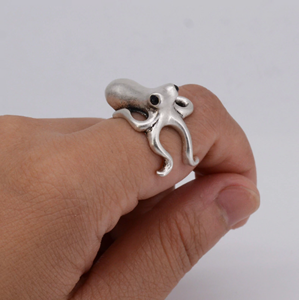 Baby Octopus Ring-Atolea Jewelry