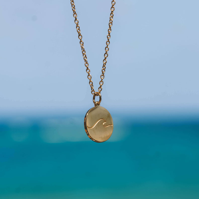 Gold Beach Wave Necklace