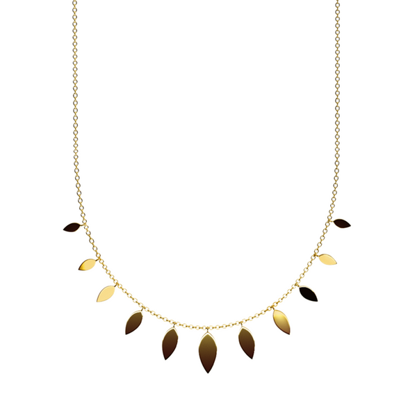 Gold Boho Feather necklace