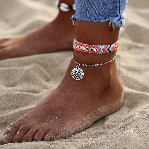 Boho Indie Anklet-Atolea Jewelry